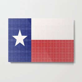 Texas Flag pattern Metal Print