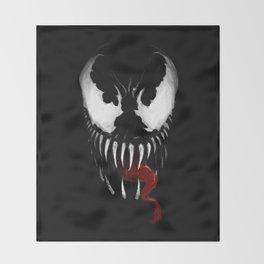 Venom, Spider man Enemie Throw Blanket