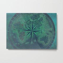 world map art 131 #map #world Metal Print