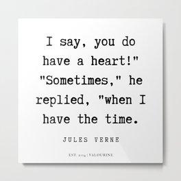 5   | Jules Verne Quotes | 200113 Metal Print