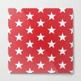 Superstars White on Red Large Metal Print