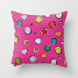 wilderdot cerise Throw Pillow