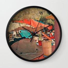 Coffee under the umbrella  Wall Clock