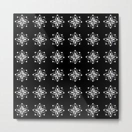 optical pattern 65 flower Metal Print