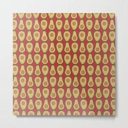 Avocado Red Metal Print