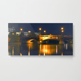 BERLIN NIGHT on the RIVER SPREE Metal Print