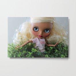 Doll among the plants Metal Print