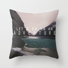 let's go on an adventure. Throw Pillow