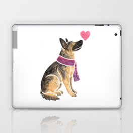 Watercolour German Shepherd Dog Laptop & iPad Skin