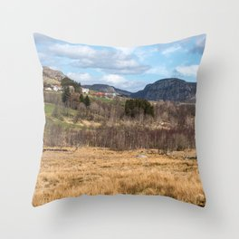 Norwegian fields Throw Pillow