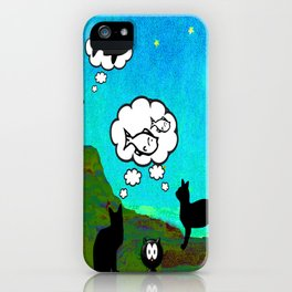 Cats Dreaming inTwilight iPhone Case