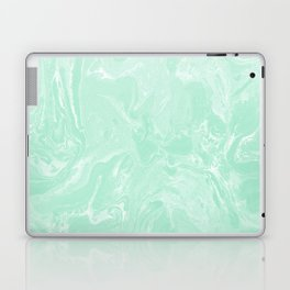 Pastel Mint Green Marble Minimalist Laptop & iPad Skin