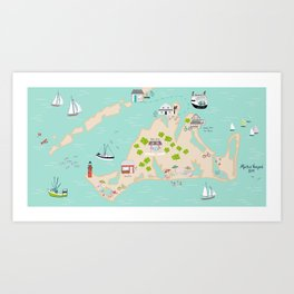 Martha's Vineyard Art Print