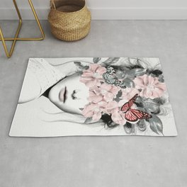 WOMAN WITH FLOWERS 10 Rug
