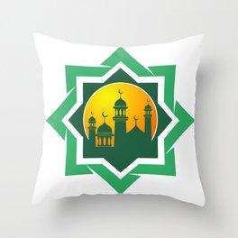 Symbol of Muslim Throw Pillow