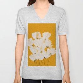 Flowers In Tangerine Unisex V-Neck