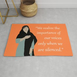 Malala Yousafzai Quote Rug