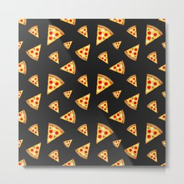 Cool and fun pizza slices pattern Metal Print