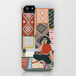but first let me have a coffee iPhone Case