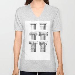 Greek columns Unisex V-Neck