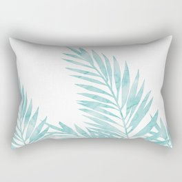 Palm Leaves Island Paradise Rectangular Pillow
