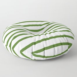 Simply Drawn Stripes in Jungle Green Floor Pillow