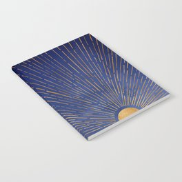 Twilight / Blue and Metallic Gold Palette Notebook