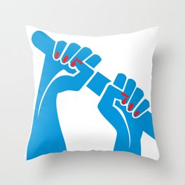 Rowing Hands 2 Throw Pillow