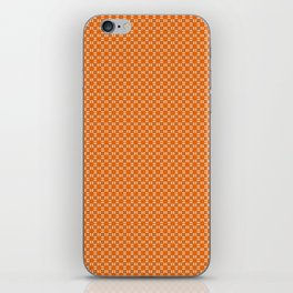 Orange Yellow Cell Checks iPhone Skin