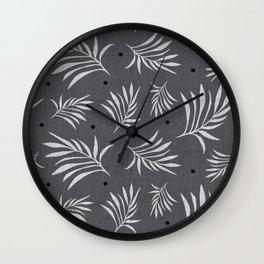Island Breeze Charcoal Wall Clock