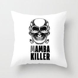 Mamba Killer Throw Pillow