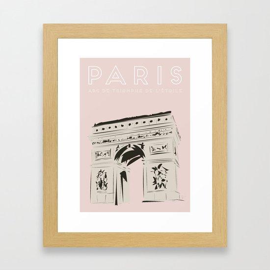 Paris Arc de Triomphe de l'Étoile Travel Poster by carrielymandesigns