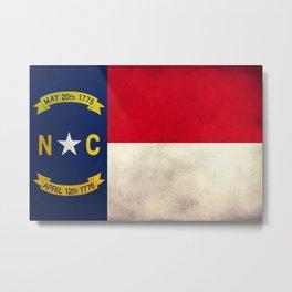 North Carolina flag vintage  Metal Print