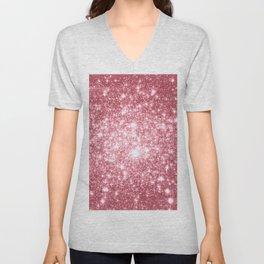 Pink Sparkle Stars Unisex V-Neck