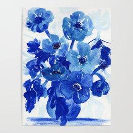 blue stillife Poster