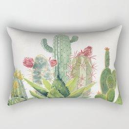 Cactus Watercolor Rectangular Pillow