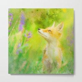 Enchanted Fox Metal Print