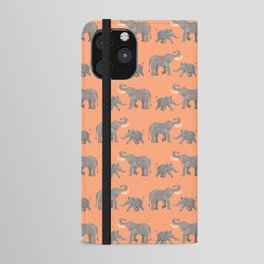 Cheerful Elephants iPhone Wallet Case