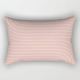 Minimal Line Curvature - Vintage Pink Rectangular Pillow