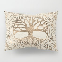 Tree of life -Yggdrasil Runic Pattern Pillow Sham