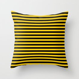 Iowa Team Colors Stripes Throw Pillow