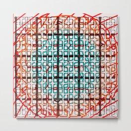 Color line abstract design print Metal Print