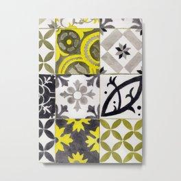 JD_tiled floor1–gouache Metal Print