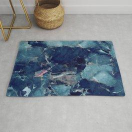 Blue marble texture Rug