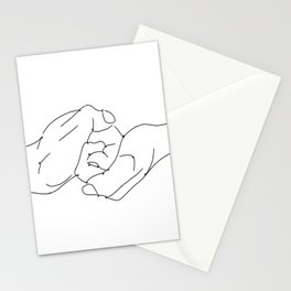 4 elements earth male female hands line art black white modern contemporary art illustration Stationery Cards
