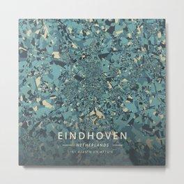 Eindhoven, Netherlands - Cream Blue Metal Print