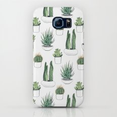 watercolour cacti and succulent Galaxy S8 Slim Case