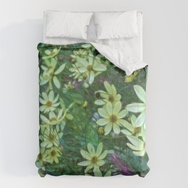 Whimsical Yellow Daisies Comforters