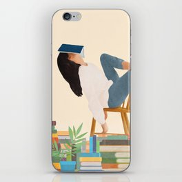 Lost in my books iPhone Skin