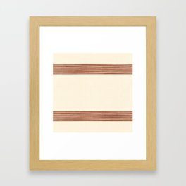 Band in Rust Framed Art Print